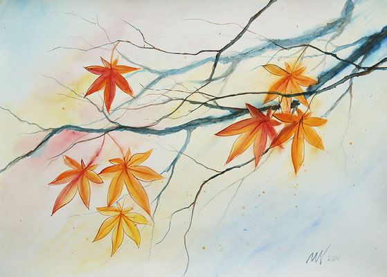 Autumn etudes #1 Watercolor, 30x40cm. 2014