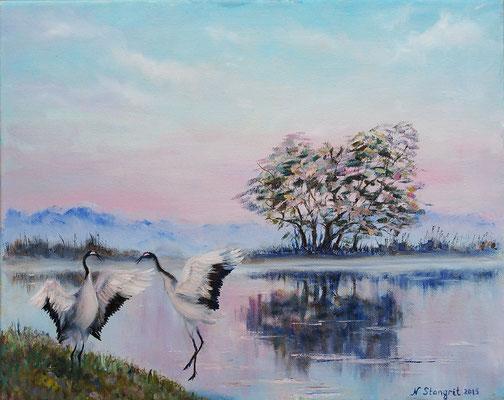 Morning dance. Oil on canvas, 40x50 cm, 2015