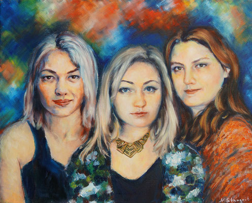 The girls Oil on canvas. 40X50cm, 2016. Sold!