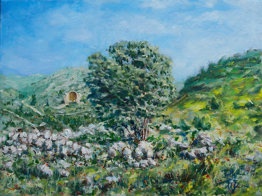 Beit Guvrin. Oil on canvas. 30x40 cm. 2014 Sold!