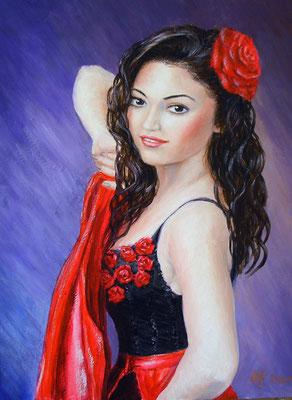 Carmen. Acrylic. 30[40cm. 06-2010