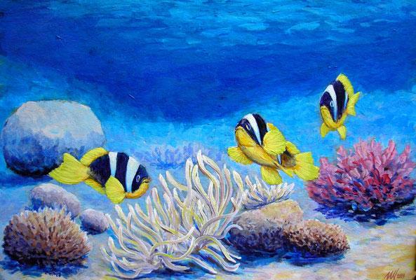 Underwater, acrylic, 30x40cm,06-2009.