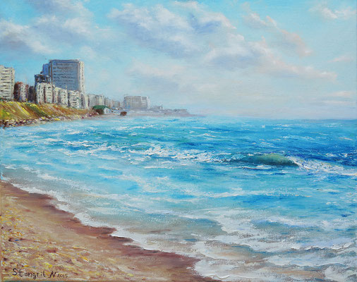 Summer and Sea, Oil on canvas, 40x50 cm, 2015