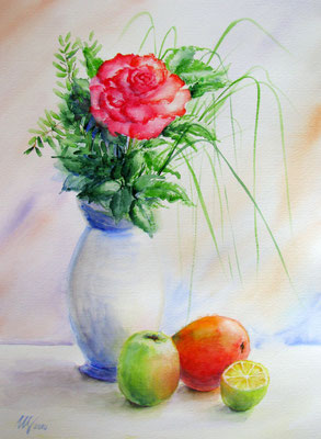 Still Life with Fruit.Watercolor, 30x40cm, 07-2010.