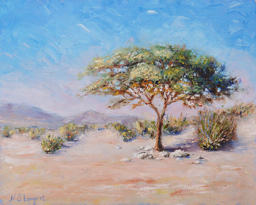 Desert. Oil on canvas, 40x50cm, 2017