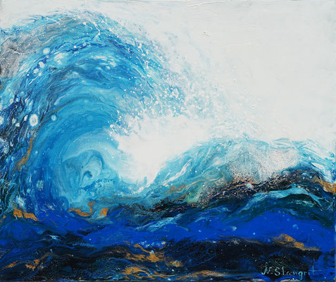 Wave acrylic on canvas, 38X46cm, 05-2018