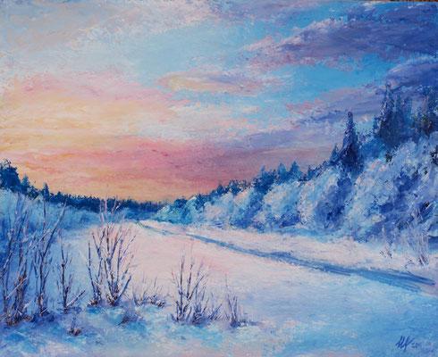 February. Acrylic, cardboard, 40x50cm, 02-2011.