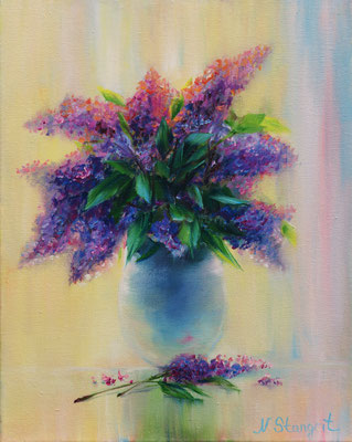 Lilac. Oil on canvas 25x30cm, 09-2017