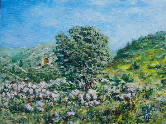 Beit Guvrin. Oil on canvas. 30x40 cm. 2014