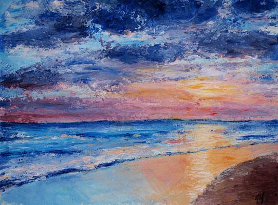 Sunset. cardboard, 30x40cm, 01-2011.Sold!