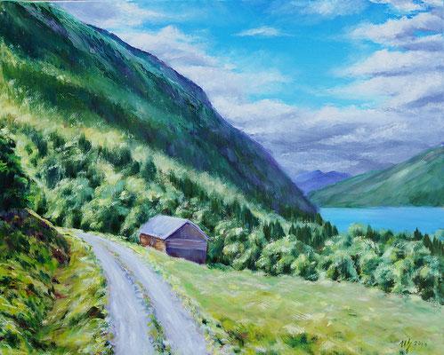 Far far away. 40x50cm, oil on canvas, 2014