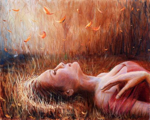 Infinitude. Oil, cardboard, 40[50cm, 12-2010.
