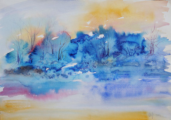 Winter Watercolor, 30x40cm. 2014