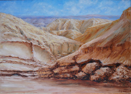 Stony desert. Oil on canvas. 50x70cm, 2014.