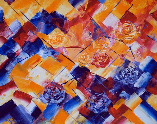 Dream of roses Acrylic, cardboard, 40x50cm, 12-2012