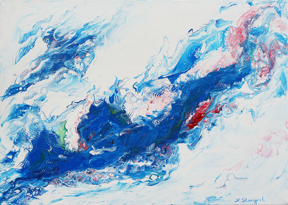 Blue flow Acrylic on canvas. 50x70cm. 05-2018