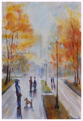 Autumn etudes Watercolor on paper, 21x29cm, 2016