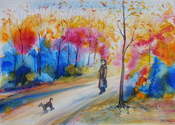 Autumn etudes #4 Watercolor, 30x40cm. 2014