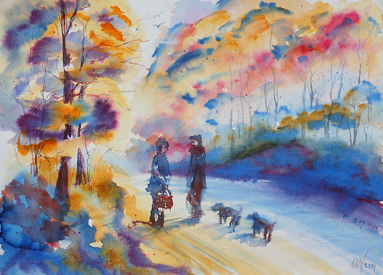Autumn etudes#3 Watercolor, 30x40cm. 2014