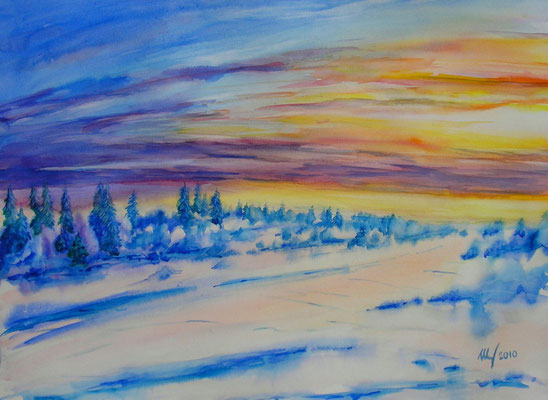 Winter light-2, 30x40cm, 2010. Sold!