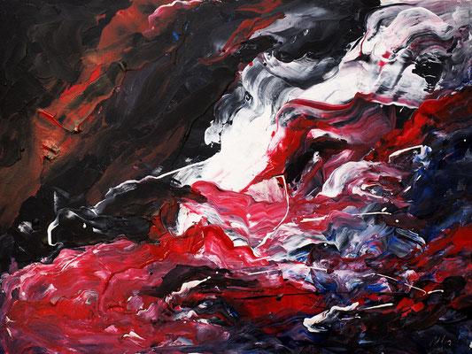 Смерть стоит того чтобы жить, а любовь стоит того чтобы ждать...(Кино).acrylic, cardbofrd, 30x40cm, 09-2011