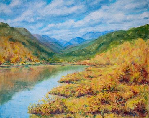 "Autumn mood. Oil oh canvas, 40х50см(16""x20""), 05-2013"