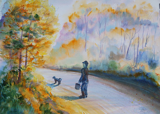 Autumn etudes#2 Watercolor, 30x40cm. 2014