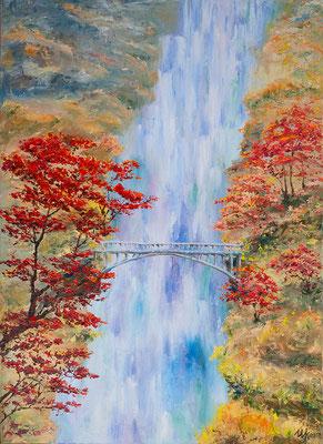 Lonely bridge. Oil on canvas, 50x70x3cm, 07-2013.