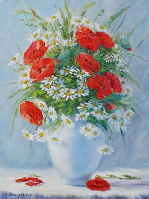 Morning Still Life, Oil on panel canvas, 30x40cm, 2015