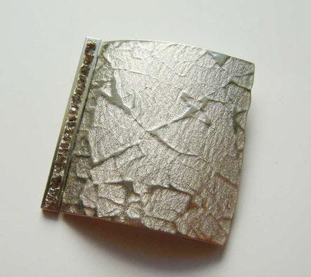 Felsdiamanten • Brosche 2011 • Silber, Rohdiamanten