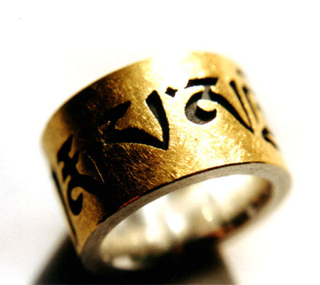 Karmapa Chenno • Ring 2003 • Gold 999, Silber