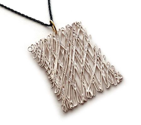 weaving • Halsschmuck 2020 • Silber, Gold 750