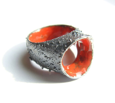 red sea ground • Ring 2009 • Silber, Emaille
