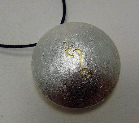 Golden Tara TAM Ø 24 mm • Gold 999, Silber