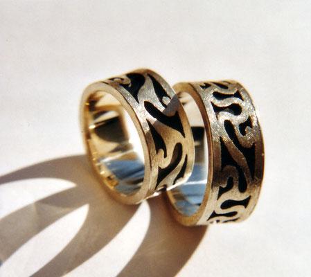 Keltenornament • Silber 925 • Ornamente mit Laubsäge gesägt