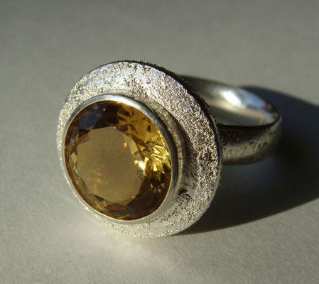 eierling • Ring 2014 • Silber, Citrin dunkel