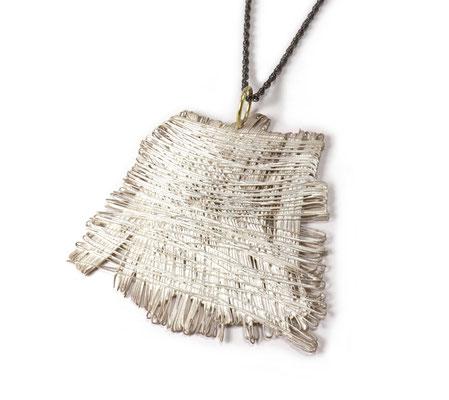 Weaving • Halsschmuck 2019 • Silber, Gold 750