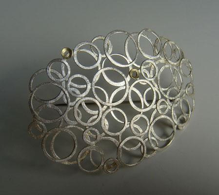 Zyklen • Brosche 2011 • Silber, Gold 750