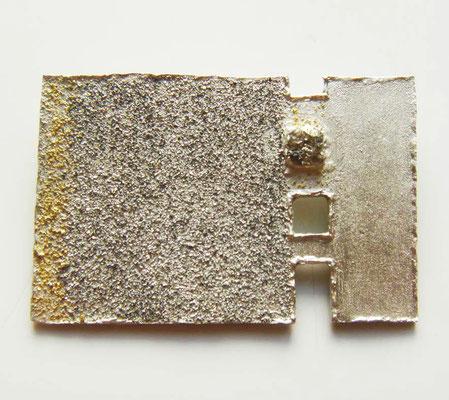 Seaside • Brosche 2011 • Silber, Gold 999, Rohdiamanten