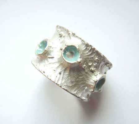 living sea ground • Ring 2008 • Silber, Emaille