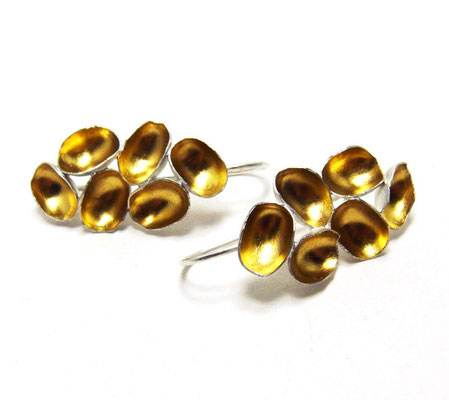 Golden Grapes • Ohrringe 2018 • Gold 999, Silber