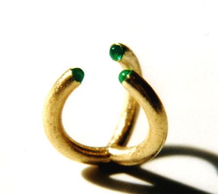 Kelche • Ring 2003 • Gold 750, Smaragde