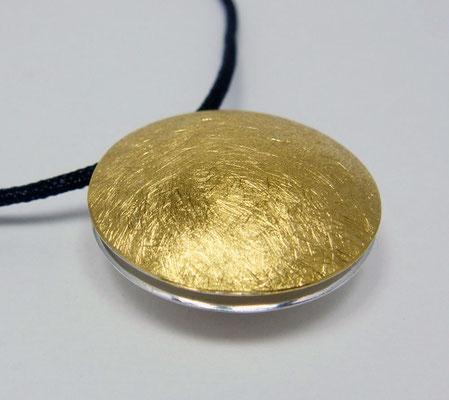 sun & moon Ø 24 mm • Gold 999, Silber