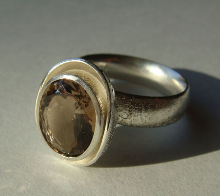 eierling • Ring 2014 • Silber, Rauchquarz • private collection