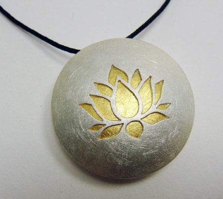 Lotus Ø 25 mm • Gold 999, Silber