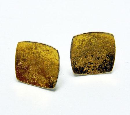 Goldgranit • Ohrstecker 2016 • Gold 999, Silber