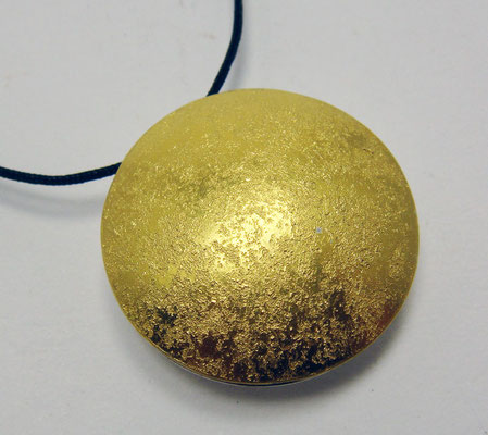 sun & moon granit Ø 25 mm • Gold 999, Silber