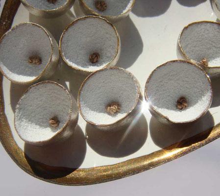 es ist angerichtet (Detail) • Halsschmuck 2013 • Silber, Kupfer, Gold, Emaille, Seide