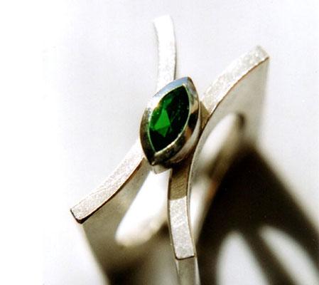 Trapez • Ring 2003 • Silber, Turmalin