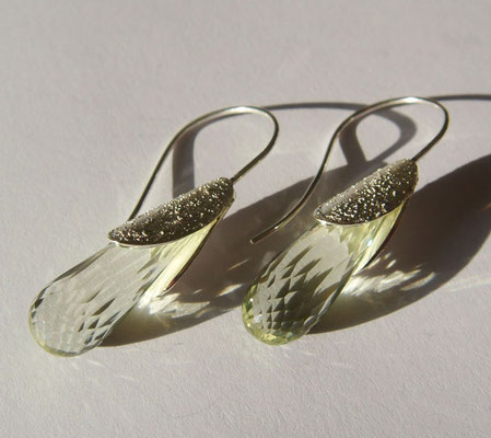Frühlingsboten • Ohrringe 2012 • Silber, Prasiolith • private collection